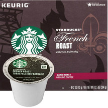 Starbucks French Roast Coffee K-Cup® Pod. Starbucks darkest and boldest and not for the faint of heart. They start with high-quality beans, which can withstand the intense fires that make French Roast what it is, and roast them to their edge. The result is a delectably smoky cup, intense and uncompromising. Compatible with most or all single cup brewers including Keurig® and Keurig® 2.0