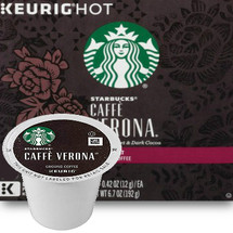 Starbucks Caffe Verona Coffee K-Cup® Pod. The Story of Caffè Verona®This is a coffee of one true love, and three names. We created it just for a Seattle restaurant in 1975, naming it Jakes Blend. And people loved it. So many, in fact, that we began hand scooping and blending it to order in our stores, where it was known as 80/20 Blend, for the recipe. The love was so strong we finally made it official, calling it Caffè Verona® after the city that inspires so many. By any name, this is a thing of pure romance.Body: FullAcidity: LowProcessing: Washed & Semi-Washed Compatible with most or all single cup brewers including Keurig® and Keurig® 2.0