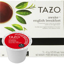 Tazo Awake Tea K-Cup® Pod. A breakfast tea of boldness, depth and character, invigorating any time of day. Compatible with most or all single cup brewers including Keurig® and Keurig® 2.0