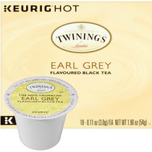 Twinings Earl Grey Tea K-Cup® Pod. A light and aromatic blend of fine black tea, scented with bergamot, a citrus fruit. Compatible with all single serve brewers, including Keurig® and Keurig® 2.0.