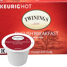Twinings English Breakfast Tea K-Cup® Pod. A rich and satisfying robust tea, traditionally blended with Kenyan and Assam black teas. Compatible with all single serve brewers, including Keurig® and Keurig® 2.0.