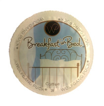 Wolfgang Puck Breakfast In Bed Coffee Single Cup. With fresh aroma and an even taste, this Medium Roast Coffee will brighten your day! Compatible with all single serve brewers, including Keurig® and Keurig® 2.0.