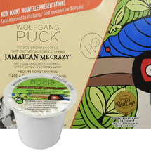 Wolfgang Puck Jamaica Me Crazy Coffee Single Cup. To enjoy a little Jamaica in your cup, try Jamaica Me Crazy flavored coffee, infused with rich coconut flavor and an island twist. Compatible with all single serve brewers, including Keurig® and Keurig® 2.0.
