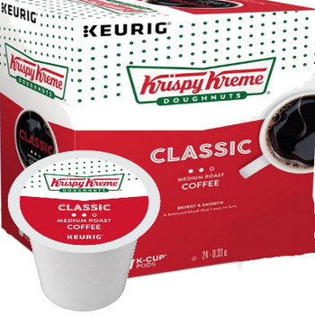 Krispy Kreme Doughnuts Smooth Roast Coffee K-Cup. A balanced, easy-to-love blend that boasts bright fruit notes and a clean, sweet finish. Compatible with most single cup brewers including Keurig and Keurig 2.0.