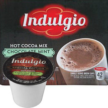 Hot. Cocoa. Nothing says 'curl-up with a warm cup and relax your cares away' like those two simple words. Cradle an Indulgio™ Hot Cocoa in your hands and take a sip of pure, hot chocolaty goodness. Made with true coffeehouse-quality ingredients, our Milk Chocolate Cocoa is rich, sweet and oh, so smooth. So go ahead and reward yourself. You deserve a quiet Indulgio™ Hot Cocoa moment