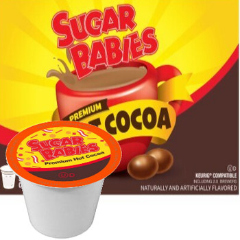 Sugar Babies Hot Chocolate Single Cup. Sweet, rich, and overflowing with caramelly goodness, Compatible with most single serve brewers including Keurig and Keurig 2.0.
