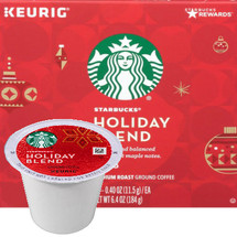 Starbucks Holiday Blend Coffee K-Cup® Pod. Elegant yet versatile, hearty yet smooth. Experience this balance of herbal and sweet maple notes that pairs beautifully with the holidays. Compatible with most or all single cup brewers including Keurig® and Keurig® 2.0