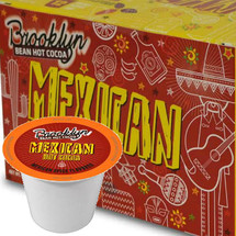 Brooklyn Bean Mexican Hot Cocoa Single Cup. Mexican chocolates are known for the different spices like cinnamon and chiles that are added to them to create intense tastes. Those flavors make this gourmet hot chocolate unlike anything you've tasted before. Compatible with all single serve brewers, including Keurig® not Keurig® 2.0.