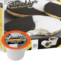 Brooklyn Bean Roastery Black & White Cookie Coffee Single Cup. The black and white cookie. So simple, yet sooo delicious.
