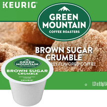 Green Mountain Brown Sugar Crumble Donut Coffee K-Cup® Pod Single Cup. Tastes like a homemade donut. Sweet, mouthwatering, brown sugar, cinnamon. Compatible with all single cup brewers, including Keurig and Keurig 2.0.
