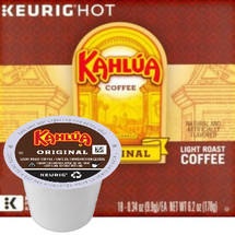 Kahlua k-cup® pod single cup. Keurig® brewed. Kahlua combines the delicious notes of rum, vanilla and caramel, wrapped in roasted coffee flavor from hand-picked Arabica beans. Compatible with all single cup brewers.