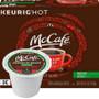 McCafe Premium Roast DECAF Coffee K-Cup® Pod. Premium roast. 100% arabica medium blend decaf. Compatible with all single cup brewers.