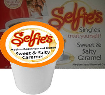 Selfie's Sweet & Salty Coffee Single Cup. Compatible with all single serve brewers including Keurig and Keurig 2.0.