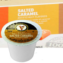 Victor Allen's Coffee Salted Caramel Coffee Single Cup. The luscious taste of caramel with a salty taste is a perfect treat that can't be beat. Compatible with most single cup brewers including Keurig and Keurig 2.0.