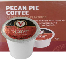 Victor Allen's Coffee Pecan Pie Coffee Single Cup. Warm and nutty pecans loaded with smooth creamy butter notes on a background of sweet brown sugar and molasses. Compatible with most single cup brewers including Keurig and Keurig 2.0.