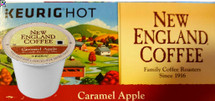 New England Coffee Caramel Apple Coffee K-Cup® Pod. A delicious combination of ripe orchard apples dipped in smooth, creamy caramel. Loaded with an intense butter note and rich taste, this treat is the ultimate temptation. Compatible with most single cup brewers including Keurig and Keurig 2.0.