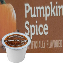 Java Gold Pumpkin Spice Coffee Single Cup. Compatible with most single cup brewers including Keurig and Keurig 2.0.