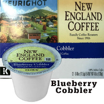 New England Coffee Blueberry Cobbler Coffee K-Cup® Pod. Compatible with most or all single cup brewers including Keurig® and Keurig® 2.0.