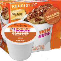 Dunkin Donuts® Caramel Coffee Cake Coffee  Keurig® K-Cup®, Compatible with most single serve brewers including Keurig and Keurig 2.0
