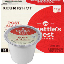 Seattle's Best Coffee Post Alley Blend Coffee K-Cup® Pod. This is a smokey and intense French roast with a wonderfully smooth side. Compatible with most single cup brewers including Keurig & Keurig 2.0.