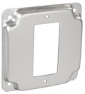 "4‰"" Square, 1/2"" Raised Decora / GFCI Industrial Receptacle Cover (G1947)"