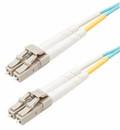 LC-LC 50/125 OM4 Multimode Duplex Fiber Optic Patch Cords Aqua