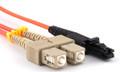 MTRJ to SC 62.5/125 Multimode OM1 Duplex Fiber Optic Patch Cords