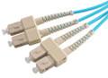 SC-SC 50/125 Multimode OM3 Duplex Fiber Optic Patch Cords