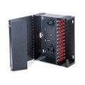 Large Wall-Mount SDX Fiber Enclosure, Empty, Split Metal Door, with Lock (5W720-N)
