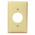 Single Gang 1.406-Inch Hole Device Receptacle Wallplate, Ivory (80704-I)