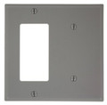 2-Gang 1-Blank 1-Decora Combination Wallplate, Gray (80708-GY)