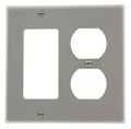 2 gang Duplex / Decora Combination Wallplate (80746-GY)