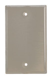 Single Gang Blank Wallplate Stainless Steel (84014)
