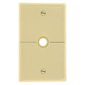 Single Gang .625 Inch Hole Device Split Wallplate