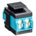 QuickPort Duplex LC Adapter, Shuttered, 10G LOMM, Zirconia Ceramic Sleeve