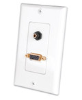 VGA and 3.5 mm Stereo Jack Decor Wall Plate (281212X)