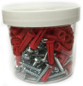 #8 Plastic Anchor and Screw Kit 100 Pack (EK10)