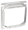 "4"" Square 5/8"" Raised  Two Gang Device Ring (8470C)"