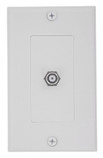 Decora F Jack Wallplate White (40981-WD)