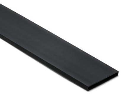 Wiring Duct Cover, 6 ft, Black on