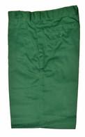 Green Flat front Shorts