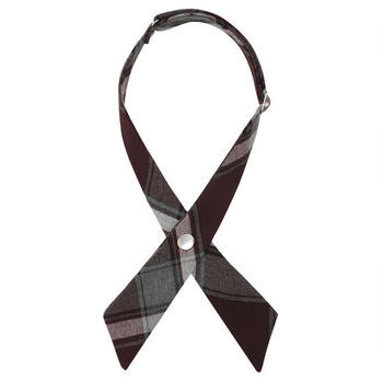 Burgundy Plaid School Cross Tie
