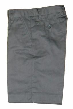 Grey Flat Front Shorts