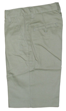 Khaki Flat Front Husky Shorts