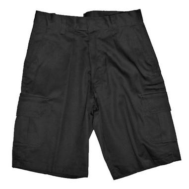 Black Cargo Pocket Shorts - Front