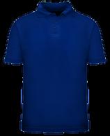 Short Sleeve School Uniform Polo - Royal