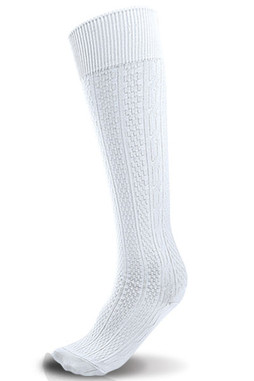 White Knee Hi Sock