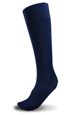 Navy Knee Hi Sock