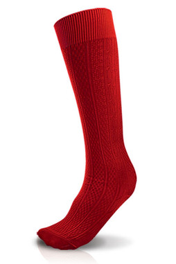 Red Knee Hi Sock