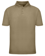 Short Sleeve School Uniform Polo - Khaki